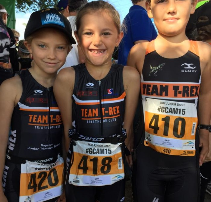 Junior Raptors taking part in the Gold Coast Marathon