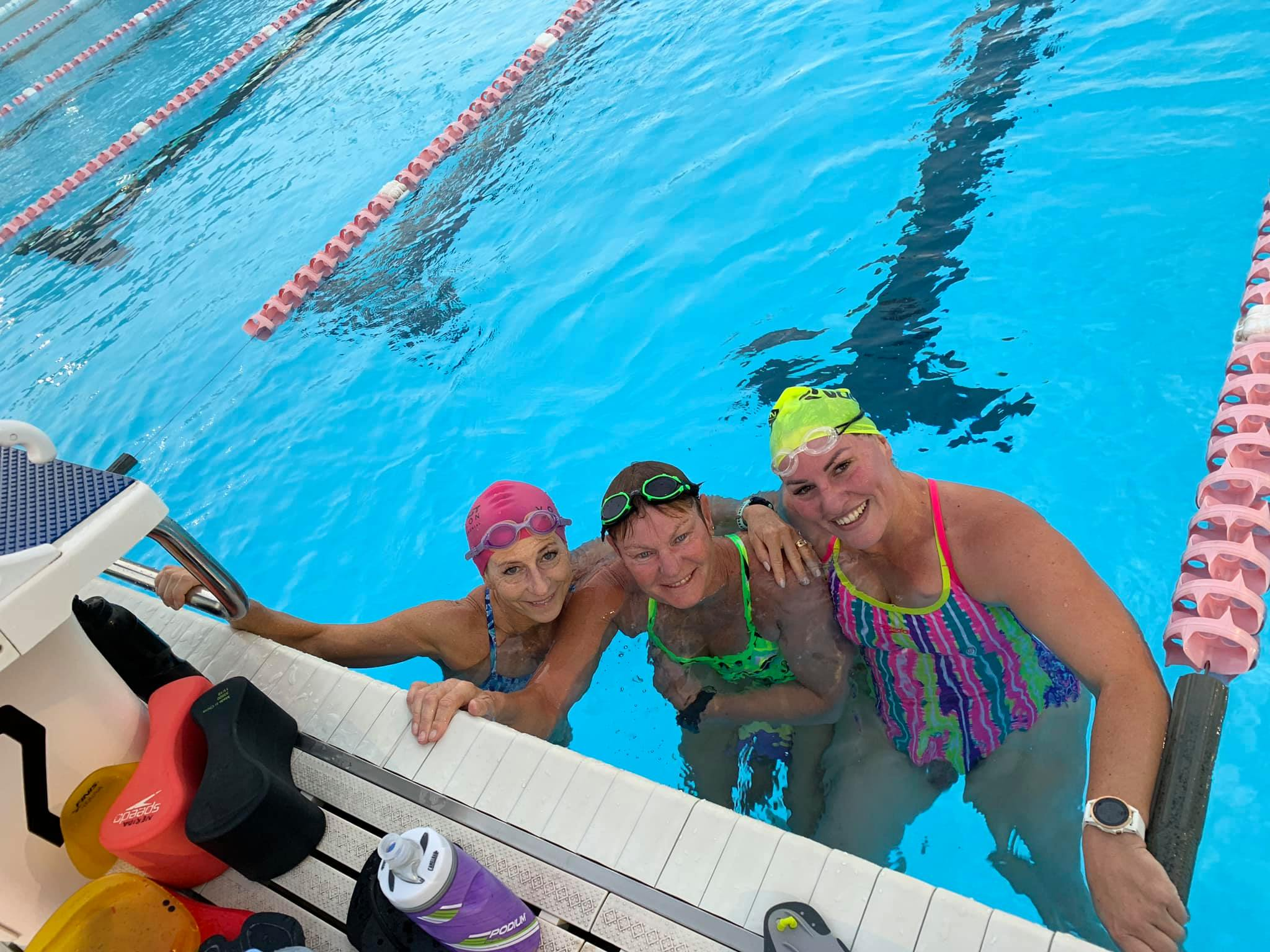 She-Rex Female Triathlon Athletes in Swimming Training