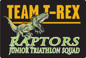 Team T-Rex Raptors Junior Triathlon Squad Logo