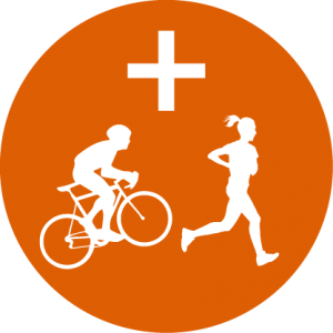 Triathlon Cycle Run Icon