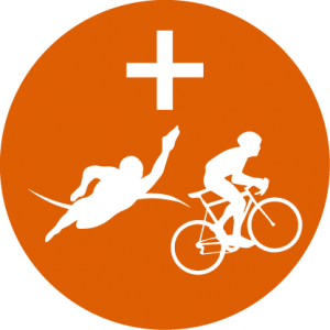 Triathlon Cycle Swim Icon