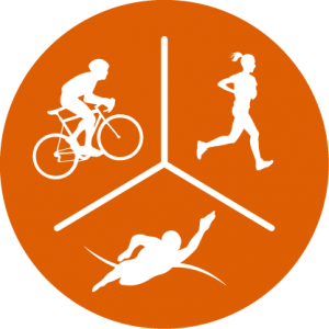 Triathlon Cycle Swim Run Icon
