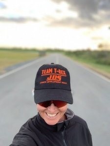 Teresa Theaker wearing Team-Trex Hat