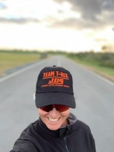 Teresa Theaker wearing Team-Trex Hat