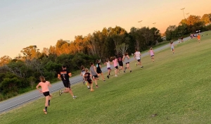 Team T-Rex Junior Raptors in Running Training