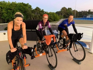 She-Rex women training on cycling bikes