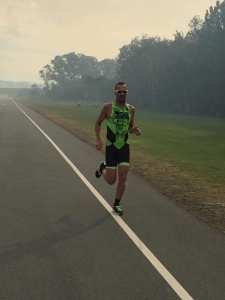 Man Running in Triathlon