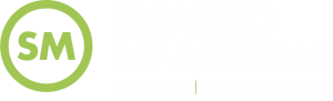 Shared Marketing Branding, Web Design and SEO Logo in white and green